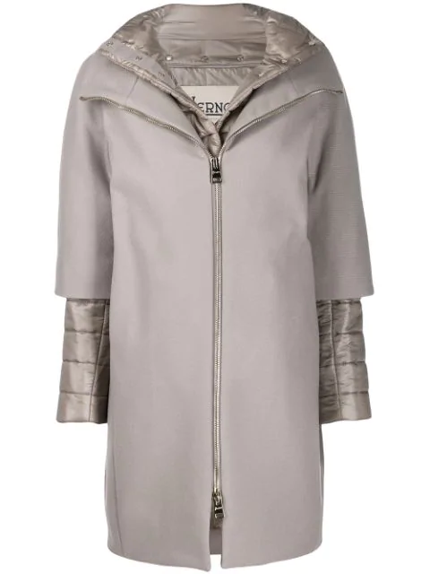 Herno Two-in-one Coat In Grey