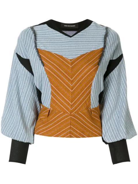 Kiko Kostadinov Structured Blouse In Ocra/cerulean