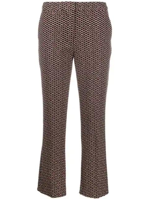 Lala Berlin Geometric Pattern Trousers In Black