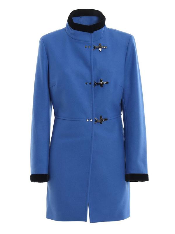 Fay Women's Orange Wool Coat