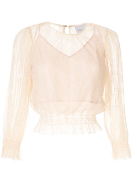 Alice Mccall Harvest Moon Ruched Blouse In Pink