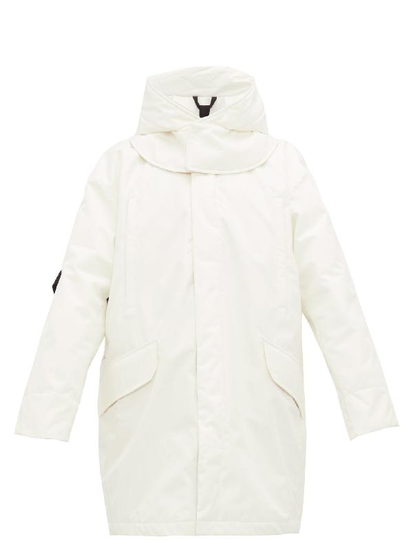 Raf Simons Oversized Hooded Technical Ski Jacket In White