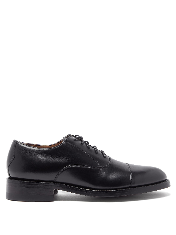 Yuketen 1940 Leather Oxford Shoes In Black