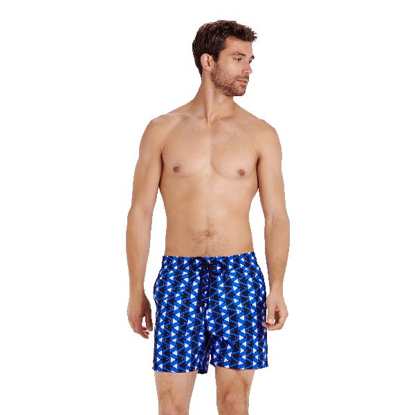 Vilebrequin Men's Moorea Re Mi Fa Soles Swim Trunks In Blue