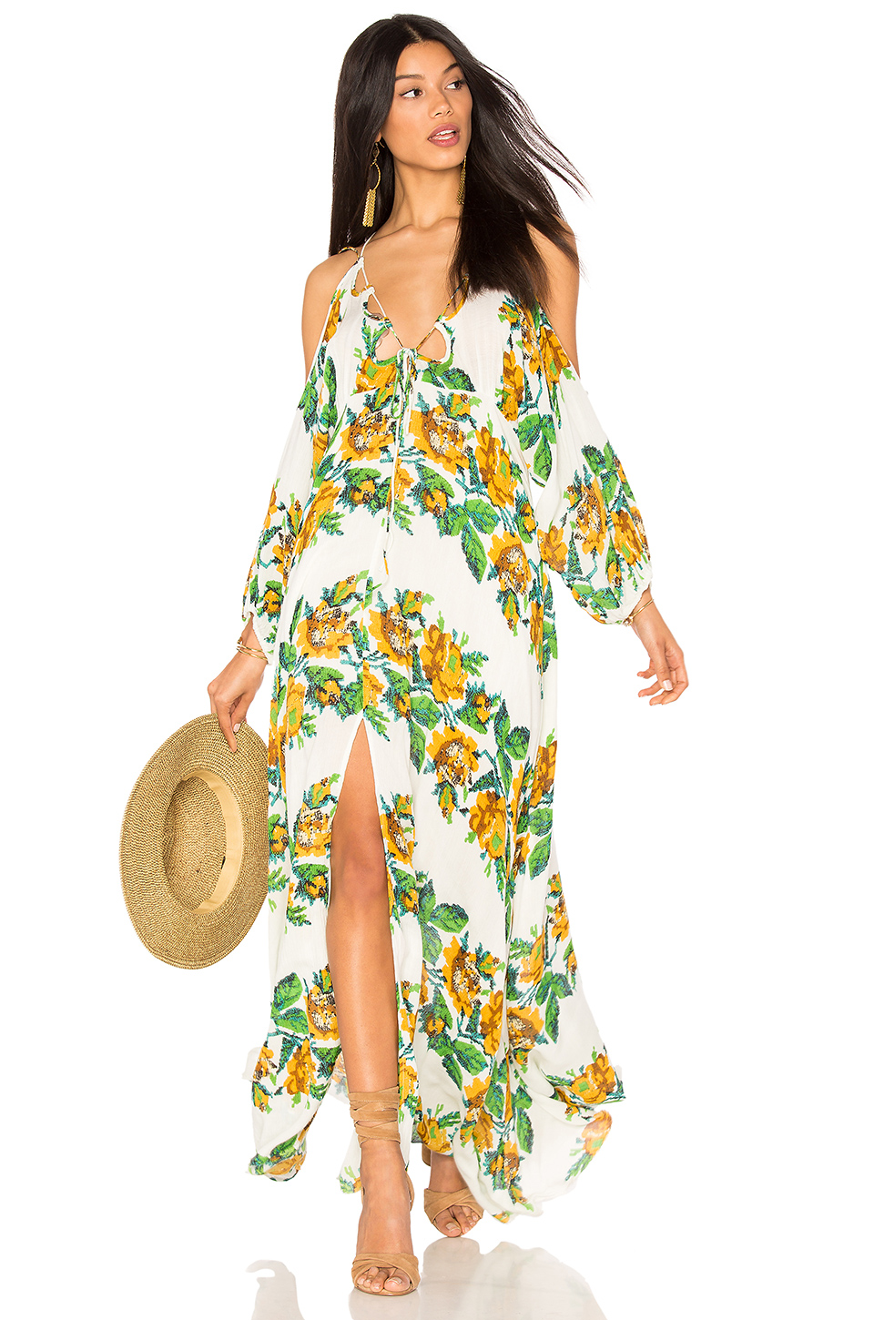 5ff9dc2098b6 Free People Monarch Woven Maxi Dress In Yellow | ModeSens