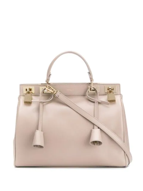 Giambattista Valli Flore Tote In 8300 Taupe-gold