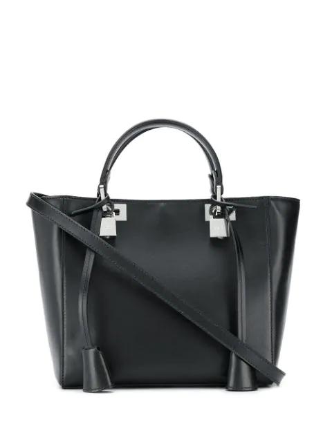 Giambattista Valli Small Tote Bag  In 9600 Black-nickel