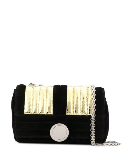 Giambattista Valli Matelasse Metallic Shoulder Bag In Black
