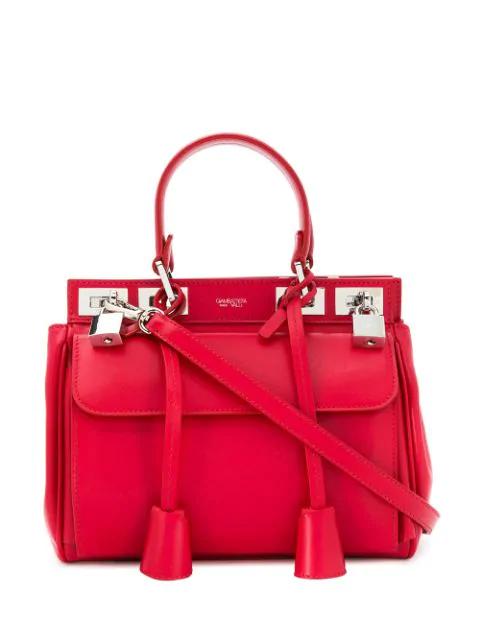 Giambattista Valli Flore Small Tote Bag In Red