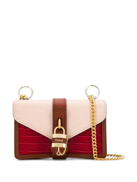 Chloé Aby Chain Shoulder Bag In Pink