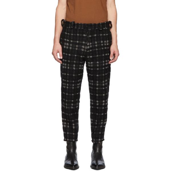 Ann Demeulemeester Black & Off-White Bette Trousers In Black/Ecru