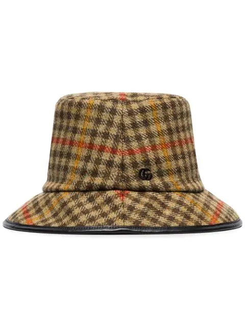 Gucci Check Wool Bucket Hat In Multicoloured: