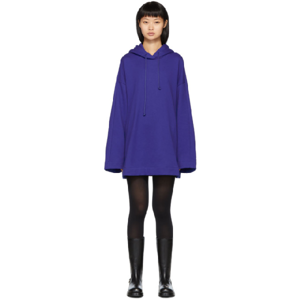 Juun.j Blue Oversize Synthesize Hoodie