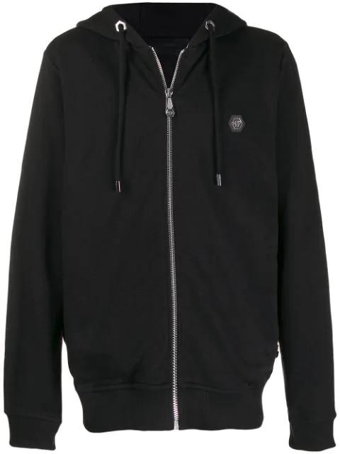 Philipp Plein Thunder Hooded Jacket In Black
