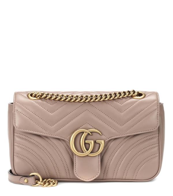 Gucci Medium Gg Marmont 2.0 Matelasse Leather Shoulder Bag - White In Beige
