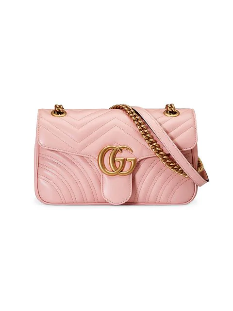 1293b8087a5 Gucci Gg Marmont MatelassÉ Shoulder Bag In Pink