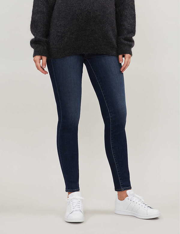 J Brand Mama J Mid-rise Skinny Maternity Jeans In Fleeting