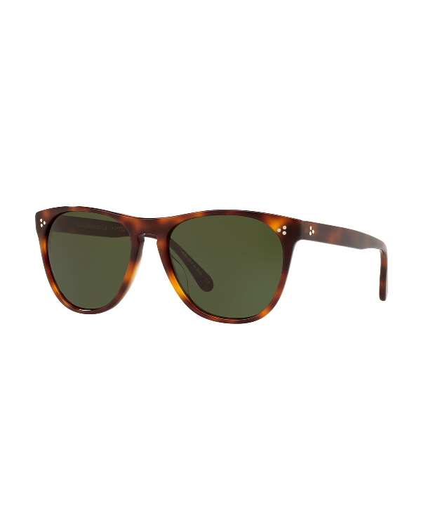 Oliver Peoples Daddy B Square Acetate Sunglasses In Dark Mahogany
