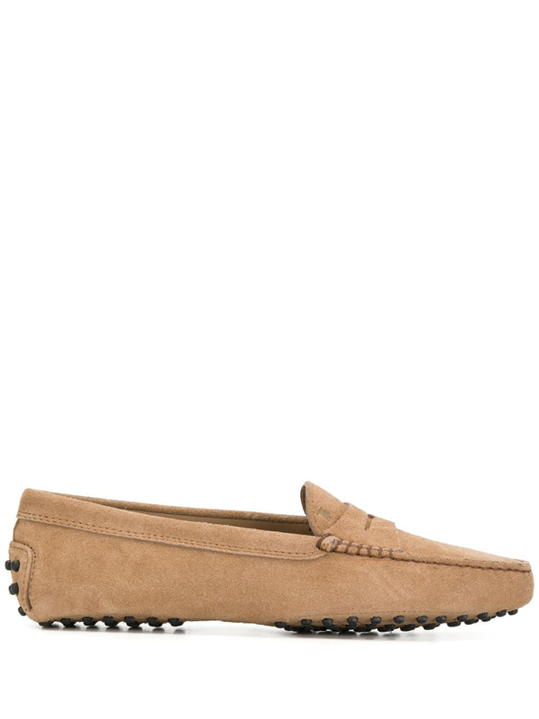 Tod's Gommino Double T Loafers In Neutrals