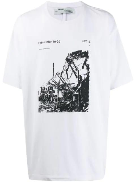 Off-white Photographic Print Logo T-shirt In 0110 White Black