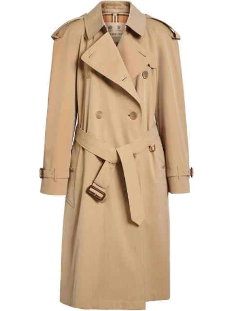 Burberry The Westminster Long Cotton-gabardine Trench Coat In Neutrals