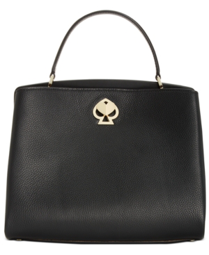 Kate Spade Medium Romy Leather Satchel In Black/Gold