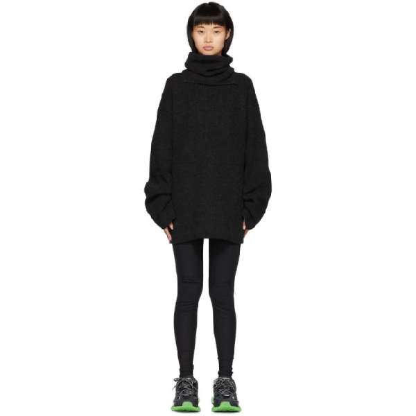Juun.j Black Removable Turtleneck Dress In Navy