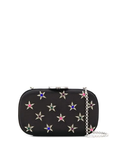 Giambattista Valli Star Embellished Clutch Bag In Black