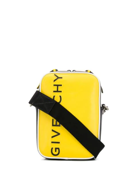 Givenchy Logo Messenger Bag In Yellow