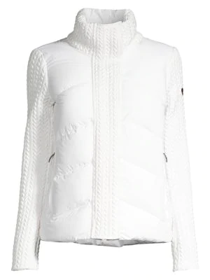 Post Card Urban Norin Down Quilted Sweater Jacket In White