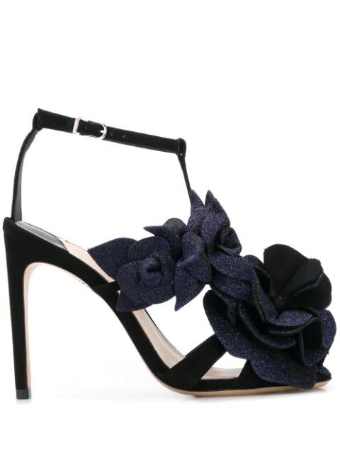 Sophia Webster Floral In Black