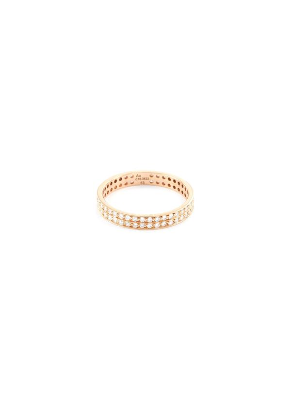 Repossi 'berbère' Diamond 18k Rose Gold Ring In Metallic