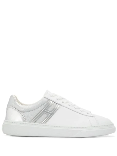 Hogan H365 Two-tone Leather Sneakers In White