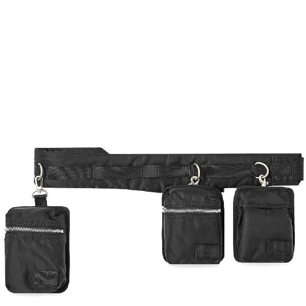 Sacai Shell Belt Bag In Black