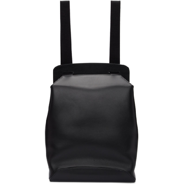 The Row Black Molded Backpack In Blag Black
