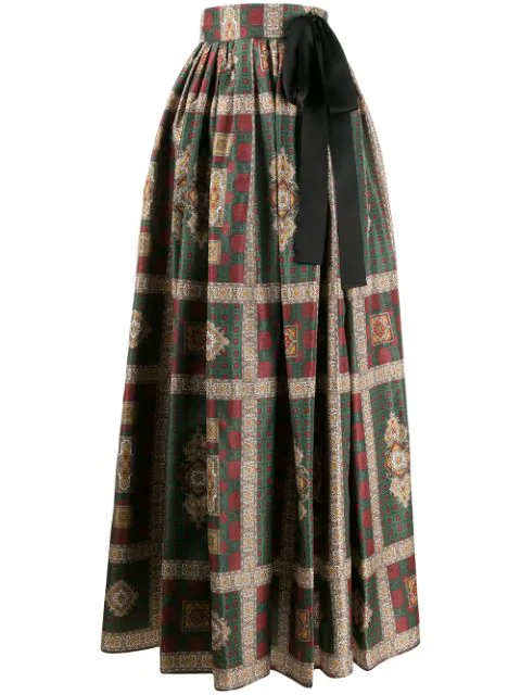 Etro Paisley Printed Maxi Skirt In 500 Multicolor