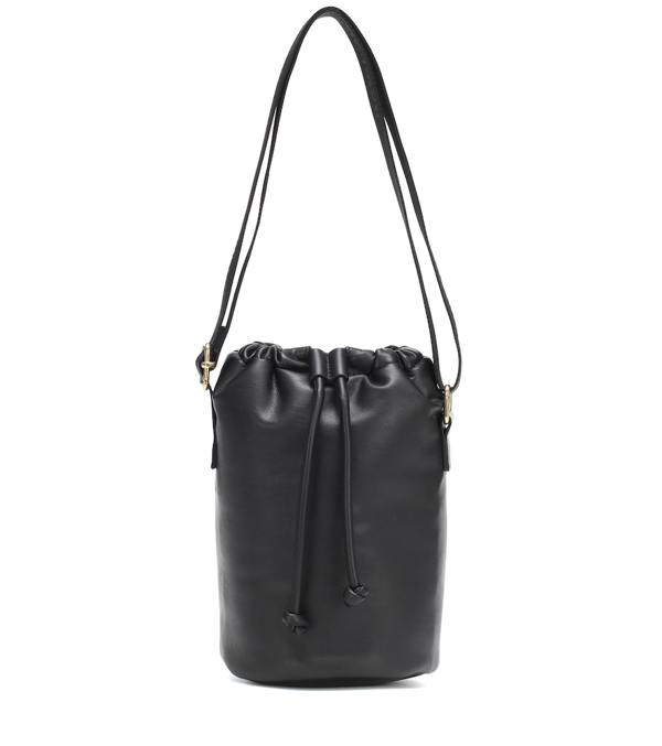 Nanushka Bosc Faux-leather Shoulder Bag In Black