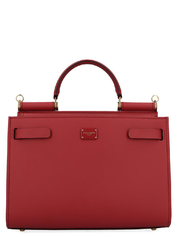 Dolce & Gabbana Small Sicily Top Handle Shoulder Bag In Red
