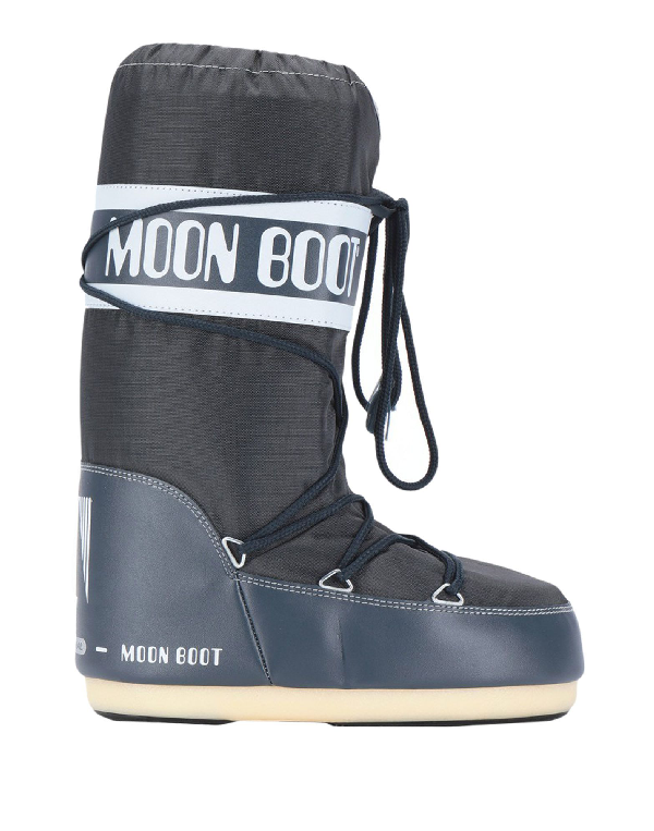 Moon Boot Combat Boots In Slate Blue