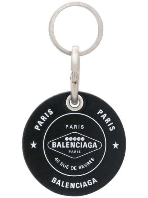 Balenciaga Casino Chip Keyring In Black