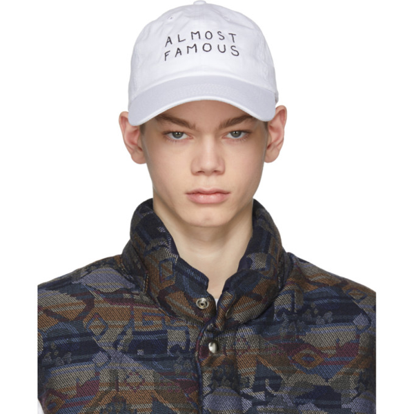 Nasaseasons Almost Famous Embroidered Cap In White