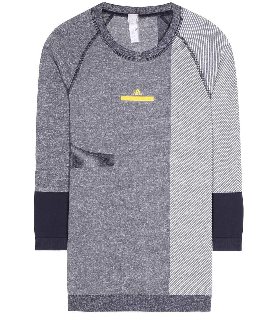 759ae6e8ea8e3c Adidas By Stella Mccartney Yoga Seamless Top In Eolle Iek   ModeSens
