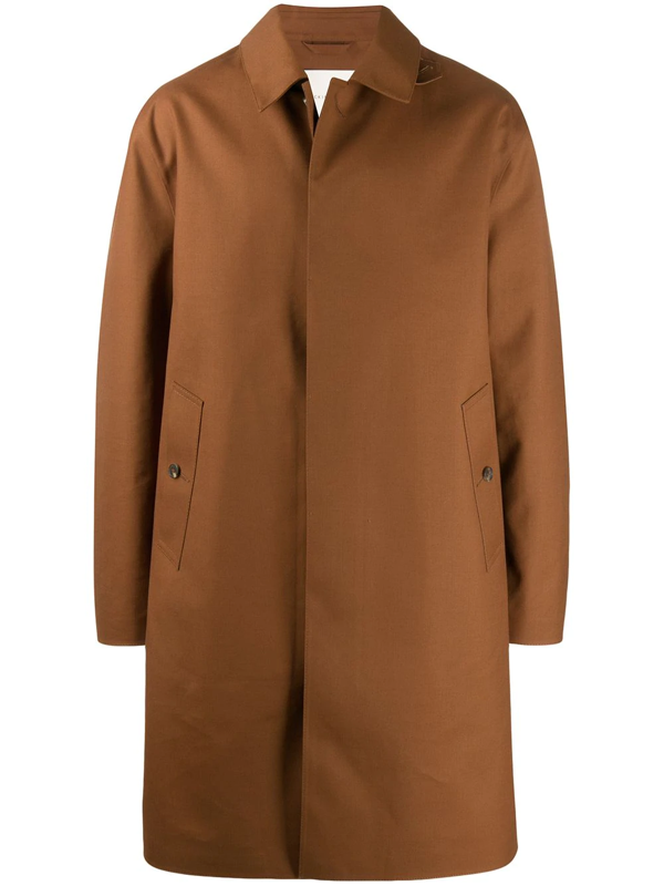 Mackintosh Dundee Bonded Wool Coat In Brown