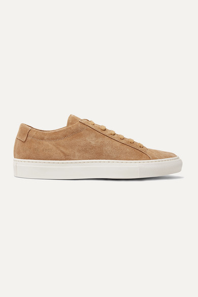 Common Projects Original Achilles Suede Sneakers In Tan