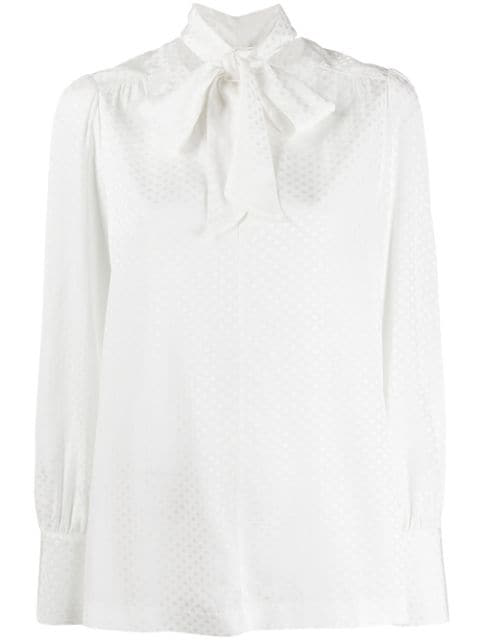 Tommy Hilfiger Tie Fastening Blouse In White