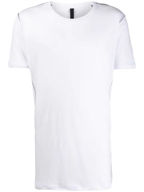 Army Of Me Contrast Stitching T-shirt In White