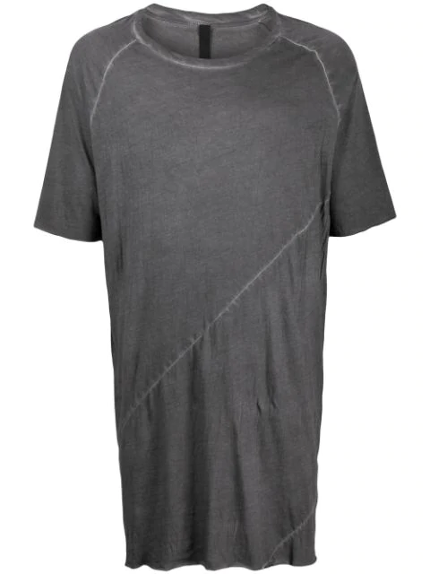 Army Of Me Distressed Effect Oversized T-shirt In Grey