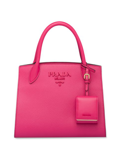 Prada Monochrome Saffiano Tote Bag In Pink