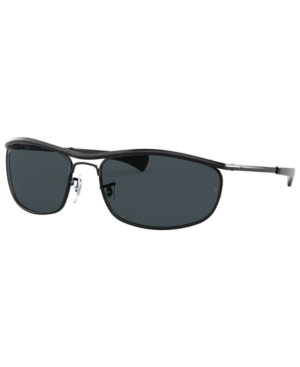 Ray Ban Ray-ban Olympian I Deluxe Sunglasses, Rb3119m 62 In Black/blue