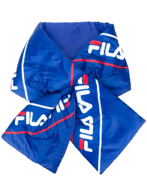 Fila Padded Nylon Scarf In Blue